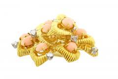 Van Cleef Arpels Van Cleef Arpels Coral and Diamond Brooch - 1136180