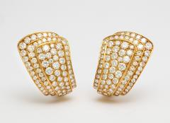 Van Cleef Arpels Van Cleef Arpels Diamond Earclips in 18K Gold - 301353