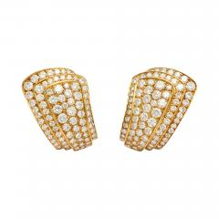 Van Cleef Arpels Van Cleef Arpels Diamond Earclips in 18K Gold - 301813
