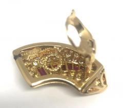 Van Cleef Arpels Van Cleef Arpels Diamond Ruby Gold Earrings - 427424