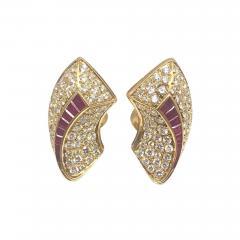 Van Cleef Arpels Van Cleef Arpels Diamond Ruby Gold Earrings - 432591