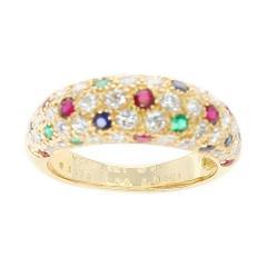 Van Cleef Arpels Van Cleef Arpels Diamond Ruby Sapphire Emerald Ring 18 Karat Yellow Gold - 1795392