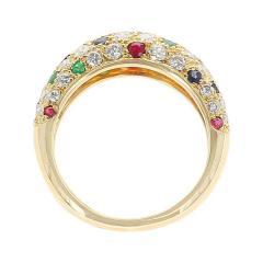 Van Cleef Arpels Van Cleef Arpels Diamond Ruby Sapphire Emerald Ring 18 Karat Yellow Gold - 1795393