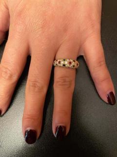 Van Cleef Arpels Van Cleef Arpels Diamond Ruby Sapphire Emerald Ring 18 Karat Yellow Gold - 1795401