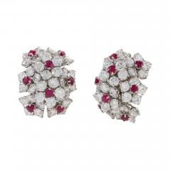 Van Cleef Arpels Van Cleef Arpels Diamond and Ruby Earrings - 1100508