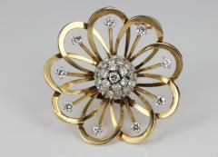 Van Cleef Arpels Van Cleef Arpels Gold and Diamond Brooch - 87005