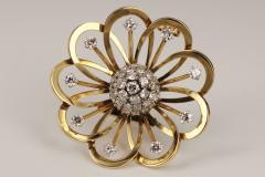 Van Cleef Arpels Van Cleef Arpels Gold and Diamond Brooch - 87006