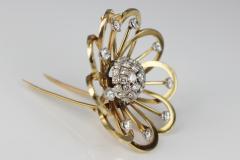 Van Cleef Arpels Van Cleef Arpels Gold and Diamond Brooch - 87007