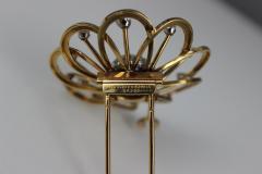 Van Cleef Arpels Van Cleef Arpels Gold and Diamond Brooch - 87008