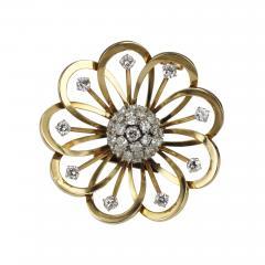 Van Cleef Arpels Van Cleef Arpels Gold and Diamond Brooch - 89466