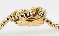 Van Cleef Arpels Van Cleef Arpels Hidden Watch Gold Knot Bracelet Circa 1960s - 181459