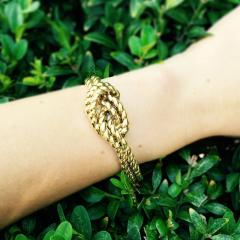 Van Cleef Arpels Van Cleef Arpels Hidden Watch Gold Knot Bracelet Circa 1960s - 181462