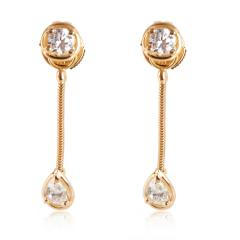 Van Cleef Arpels Van Cleef Arpels La Pluie Diamond Drop Earrings in 18K Yellow Gold D VVS1 1 - 1286490