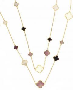 Van Cleef Arpels Van Cleef Arpels Magic Alhambra Long Necklace 16 Motifs - 1136161