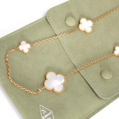 Van Cleef Arpels Van Cleef Arpels Magic Alhambra Mother of Pearl Necklace in 18K Yellow Gold - 1282787