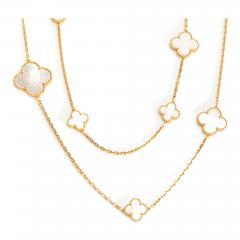 Van Cleef Arpels Van Cleef Arpels Magic Alhambra Mother of Pearl Necklace in 18K Yellow Gold - 1286276