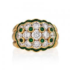 Van Cleef Arpels Van Cleef Arpels Mid 20th Century Diamond Emerald and Gold Ring - 358074