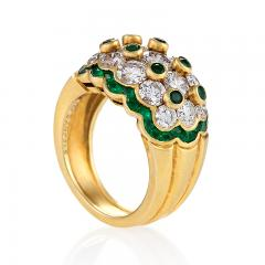 Van Cleef Arpels Van Cleef Arpels Mid 20th Century Diamond Emerald and Gold Ring - 358075