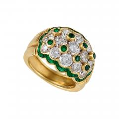 Van Cleef Arpels Van Cleef Arpels Mid 20th Century Diamond Emerald and Gold Ring - 358992