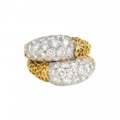 Van Cleef Arpels Van Cleef and Arpels France Estate Gold and Diamond Double Bomb Ring - 1793880