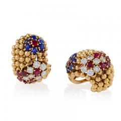 Van Cleef Arpels Van Cleef and Arpels Ruby Sapphire and Diamond Earrings - 1229738