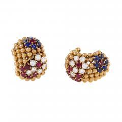 Van Cleef Arpels Van Cleef and Arpels Ruby Sapphire and Diamond Earrings - 1229759