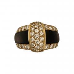 Van Cleef Arpels Van cleef Arpels diamond and black mother of pearl ring - 1475282