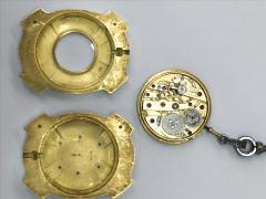 Van Cleef and Arpels Rare 1900s Platinum Diamond Set 18Kt Yg Cameo Pendant Watch - 591583