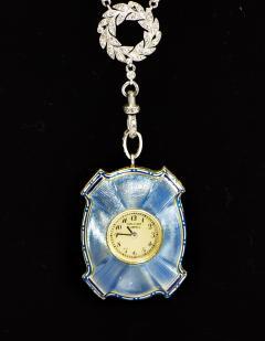 Van Cleef and Arpels Rare 1900s Platinum Diamond Set 18Kt Yg Cameo Pendant Watch - 591584