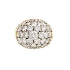 Van Cleef and Arpels Van Cleef Arpels 1960s Gold and Diamond Bomb Style Ring - 698821