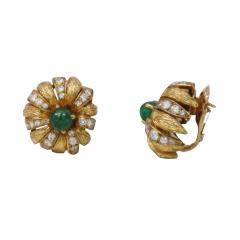 Van Cleef and Arpels Van Cleef Arpels Paris Cabochon Emerald Earrings - 657706