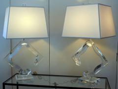 Van Teal Pair of Van Teal Lucite Lamps - 206496