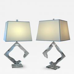 Van Teal Pair of Van Teal Lucite Lamps - 255133
