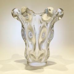 Vannes 1950s crystal teardrop vase by Vannes - 1272521