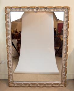 Venesta Gold Silver Gilt Scalloped Hollywood Regency Mirror - 2030594