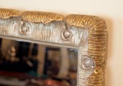 Venesta Gold Silver Gilt Scalloped Hollywood Regency Mirror - 2030596