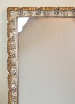 Venesta Gold Silver Gilt Scalloped Hollywood Regency Mirror - 2030599