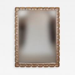 Venesta Gold Silver Gilt Scalloped Hollywood Regency Mirror - 2030776