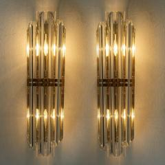Venini 1 of the 4 Venini Style Murano Glass and Gilt Brass Sconces Italy - 1315016