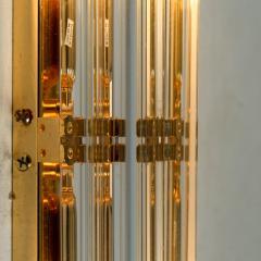 Venini 1 of the 4 Venini Style Murano Glass and Gilt Brass Sconces Italy - 1315017