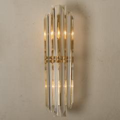 Venini 1 of the 4 Venini Style Murano Glass and Gilt Brass Sconces Italy - 1315020