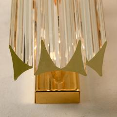 Venini 1 of the 4 Venini Style Murano Glass and Gilt Brass Sconces Italy - 1315022