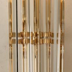Venini 1 of the 4 Venini Style Murano Glass and Gilt Brass Sconces Italy - 1315023