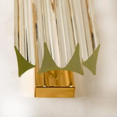 Venini 1 of the 4 Venini Style Murano Glass and Gilt Brass Sconces Italy - 1315024