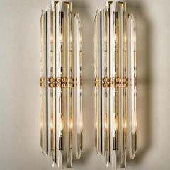 Venini 1 of the 4 Venini Style Murano Glass and Gilt Brass Sconces Italy - 1315025