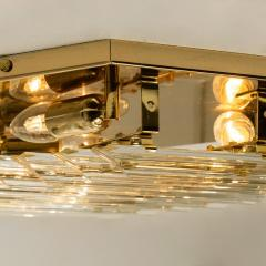 Venini 1 of the 5 Large Venini Style Glass Sconces with Triedi Crystals 1969 - 1318456