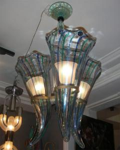 Venini 1960 s Italian Murano glass chandelier by Venini - 904428