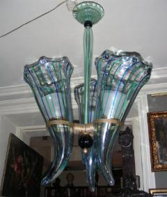 Venini 1960 s Italian Murano glass chandelier by Venini - 904430