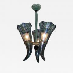 Venini 1960 s Italian Murano glass chandelier by Venini - 905210