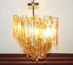 Venini 1960s Mid Century Modern Venini Glass Oval Chandelier - 1806180